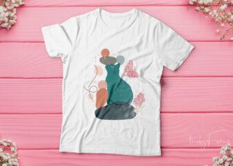 Cat Art| cool cat t-shirt design for sale.