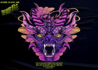 mecha dragon retro vaporwave