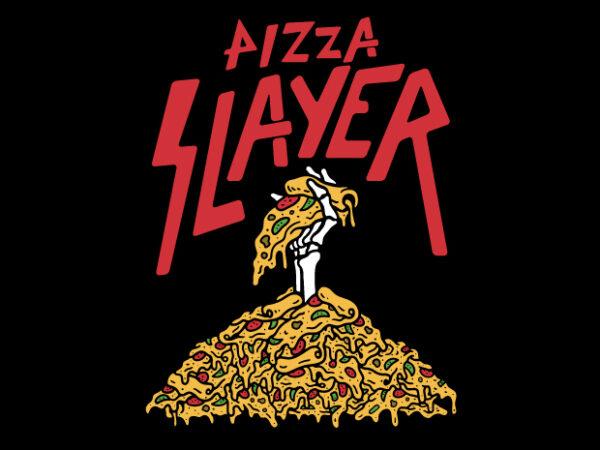Pizza Slayer t shirt illustration