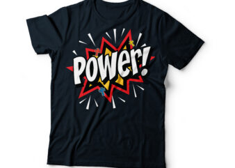 power popart Christian bible typography design | bible quote typography | christian t-shirt design | bible t shirt designs