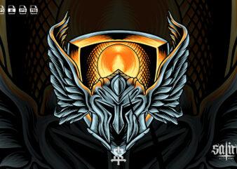 Spartan Helmet With Wings
