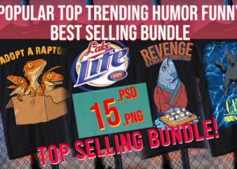 Poppular Summer Top Trending Humor Best Selling Funny Modern Designs 15 PSD + PNG
