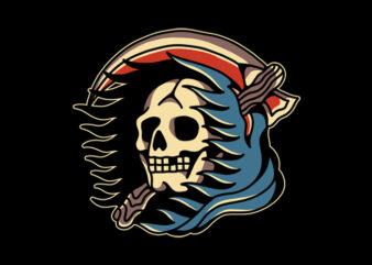 Traditional Skull Reaper Tattoo