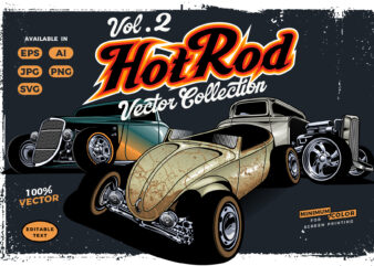 Hotrod cars vector collection vol.2