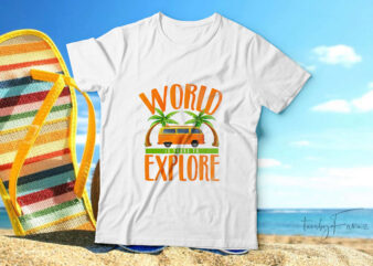 World is yours to explore| cool t-shirt design for sale