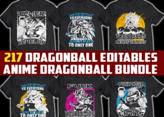 217 Anime dragon ball tshirt design bundle