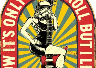 LONG LIVE ROCK'N'ROLL VINTAGE SIGNS