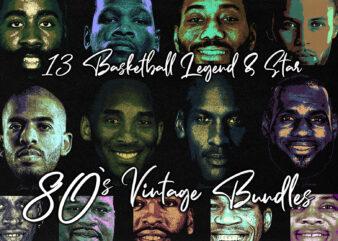 80`s Vintage Bundles Basketball legend & Star