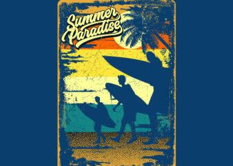 SUMMER PARADISE VINTAGE SIGNS