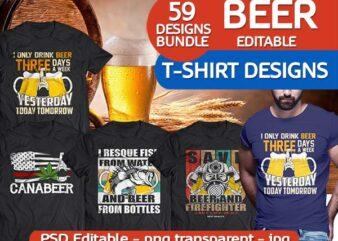 59 BEER tshirt designs bundle