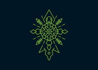Turtle Symmetry Ornament