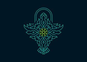 Bird Symmetry Ornament