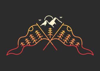 Flag of Mountain Peak
