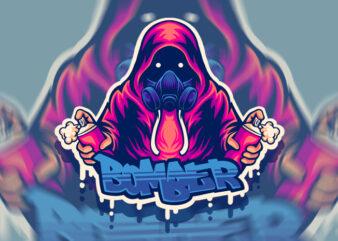 Bomber t-shirt design