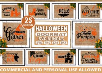 Halloween Doormat SVG Bundle