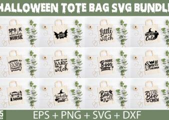 Halloween Tote Bag SVG Bundle