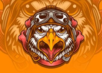 Pilot Eagle t-shirt design