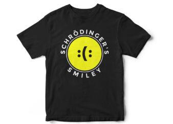 Schrodingers smiley, t-shirt design