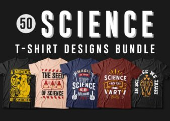 Science t-shirt designs vector bundle, Science quotes, T-shirt design for scientists, T shirt design for POD