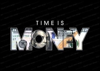 time is money t shirt design, dollar money t shirt design
