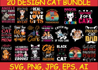 Cat Bundle SVG, Cat svg, kitty svg, Cute Cat SVG,cat head,cat face,mom mama cat svg, Funny Cats, Cat Silhouette, crazy cat love, Cat Design Png