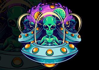 alien terror t-shirt design
