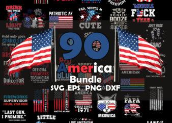 America Bundle SVG, 4th of July SVG Bundle SVG, Cricut File, USA Flag Svg, Independence Day, Patriotic Svg, 4th of July Svg Bundle, America Svg, July 4th Svg