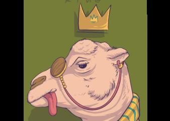 Camel t-shirt design cartoon style