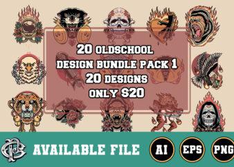 20 oldschool design bundle pack 1