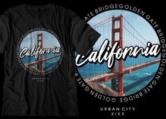 california new york city t shirt design