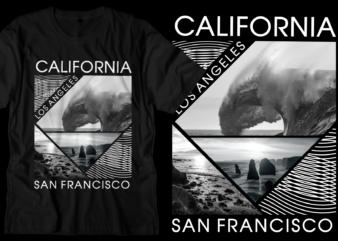 california los angeles t shirt design