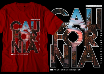 california los angeles city t shirt design