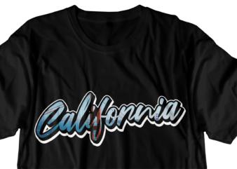 california typography t shirt design