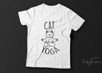 Cat yoga| funny cat t-shirt design for sale.