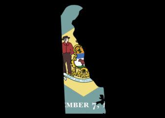 Delaware Flag Map