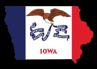 Iowa Flag Map