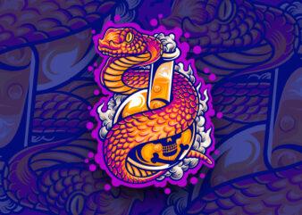poison snake t-shirt design