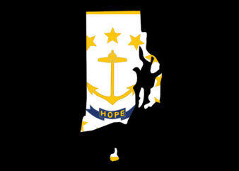 Rhode Island Flag Map
