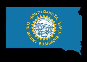 South Dakota Flag Map