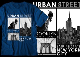 new york urban street t shirt design