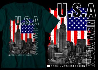 usa new york city t shirt design