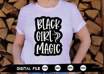 black girl magic svg design