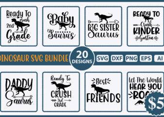 Dinosaur SVG Bundle vol.2