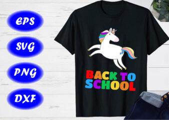 Back to school SVG, Cute unicorn T-shirt design