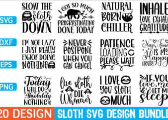 Sloth svg design Bundle for sale!,cut file Bundle