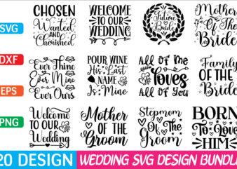 Wedding svg bundle t shirt design for sale