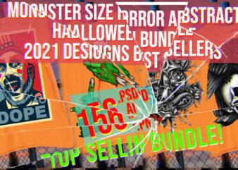 Monster Horror Abstract Halloween Bundle Top Trending Best Selling 2021