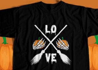 Halloween Love T-Shirt Design