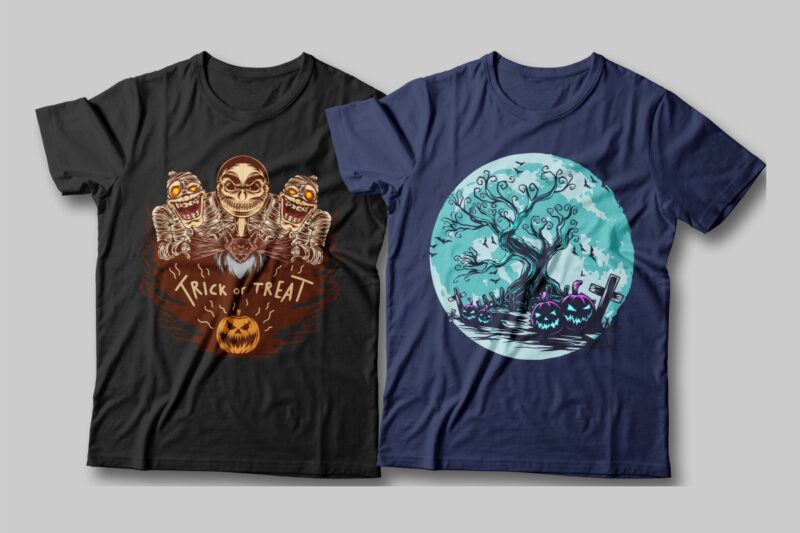 Halloween spooky illustration bundle