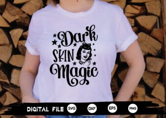 dark skin magic svg